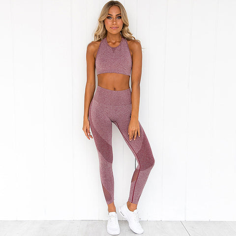 2 piece gym set - Karma - High waist leggings + top - 3 colors