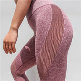 Fitness high waisted leggings - Karma red - Squat proof
