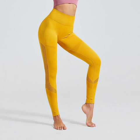 Fitness workout seamless high waist leggings - Sunshine - Squat proof - 3 colors