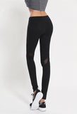 Fitness workout leggings - Black mesh