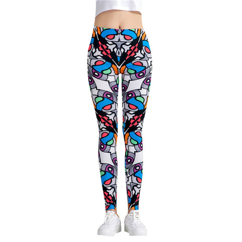 Fitness workout leggings - Colorful abstract - High waist
