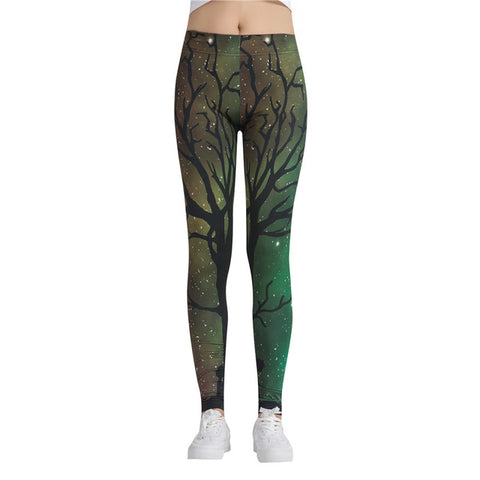 Fitness leggings - Tree green - High waist