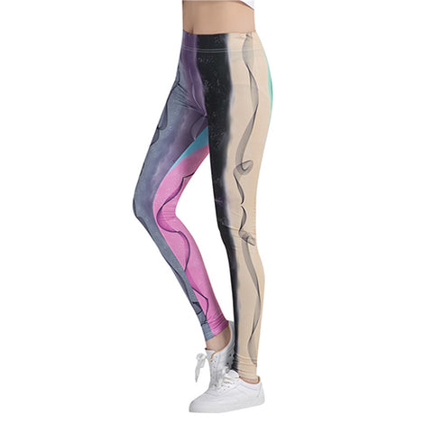 Fitness workout leggings - Colorful pen - high waist