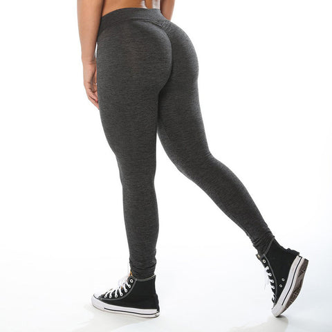 Fitness workout leggings - Asphalt - scrunch - high waist