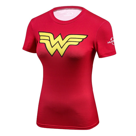 Fitness compression T-shirt - Wonder Woman red