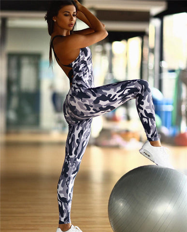 Fitness workout tracksuit - Camo ice