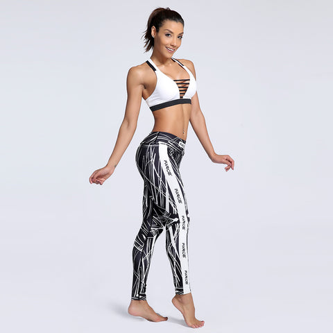 Fitness workout seamless leggings - Abstract - Squat proof - High waisted - S/XXXL