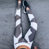 Fitness workout leggings - Strong - White