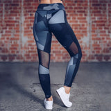 Fitness workout leggings -  Camo gray - squatproof - High waist