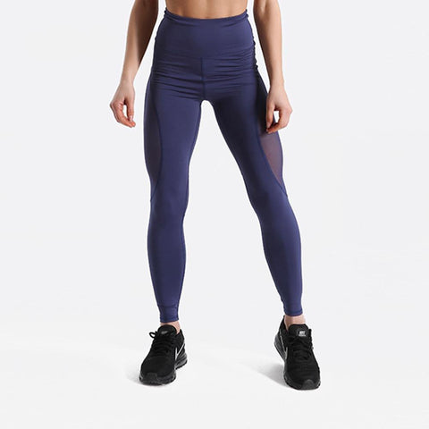 Fitness workout leggings - Panther blue - Squat proof - High waist - XS/XL