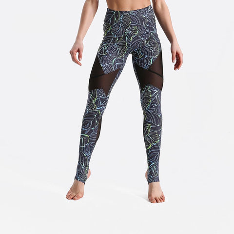 Fitness workout leggings - Compact mesh - Squat proof - High waist - XS/XL
