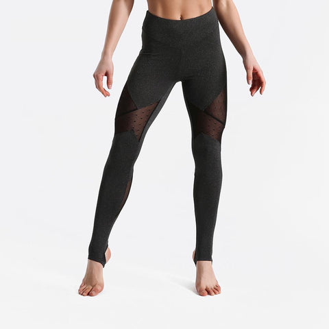Fitness workout leggings - Fantasy mesh deep grey - Squat proof - High waist - XS/XL