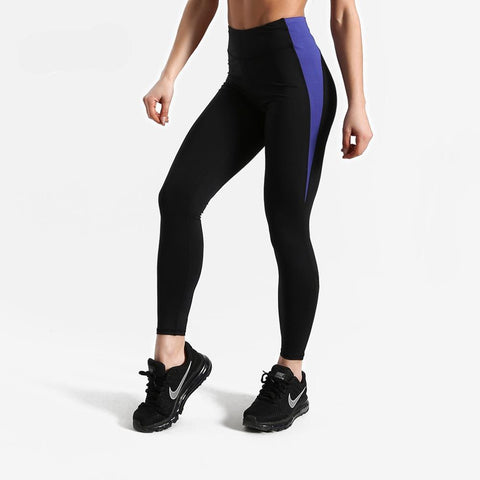 Fitness workout leggings - Corner blue - Squat proof - High waist - XS/XL