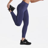 Fitness workout leggings - Shadow blue - Squat proof - High waist - XS/XL
