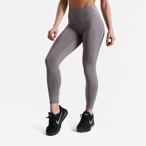 Fitness workout leggings - Shadow grey - Squat proof - High waist - XS/XL