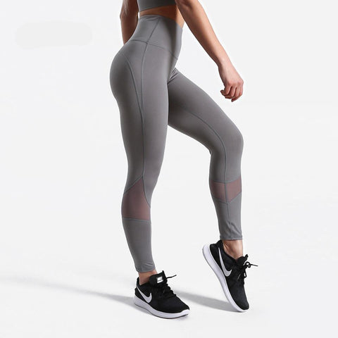 Fitness workout leggings - Grey lights - Squat proof - High waist - XS/XL