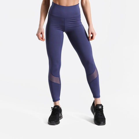 Fitness workout leggings - Blue lights - Squat proof - High waist - XS/XL