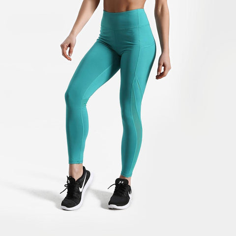 Fitness workout leggings with pockets - Torque aquamarine - Squat proof - High waisted - XS/XL