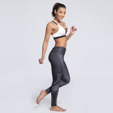 Fitness workout seamless leggings - Galaxy black - Squat proof - S/XXXL