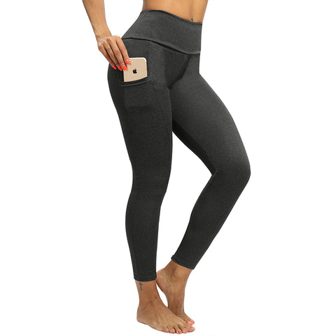 "Fitness workout leggings - ""V"" shape deep gray - Squat proof - XS/XXXL"