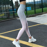 Fitness workout leggings - Horizon g/pink - Squat proof - High waisted
