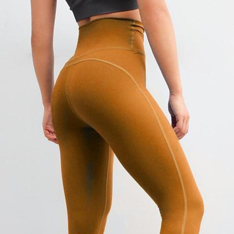 03d74bcd2f201 Fitness workout leggings - Crew yellow - Squat proof – Squat or Not