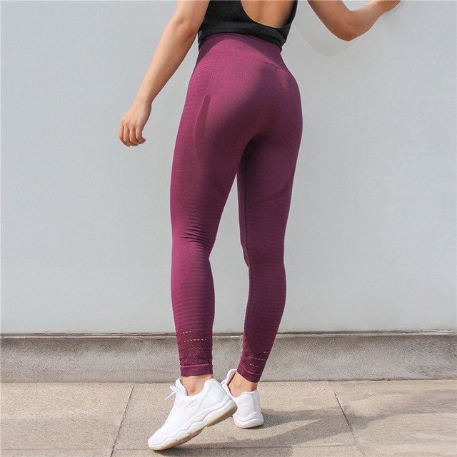 80f724906ba8 Workout seamless leggings - Obsession wine red - High waisted ...