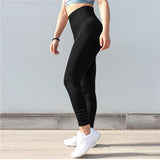 Workout seamless leggings - Obsession black - High waisted