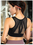 Workout padded top - Flow black - Seamless