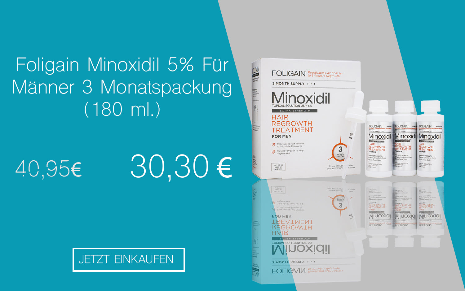 Stopphaarausfall Foligain Minoxidil 5% Discount Banner Mobile