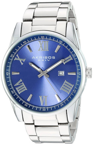 Akribos XXIV Men's Quartz Date Stainless Bracelet Watch AK936SSBU