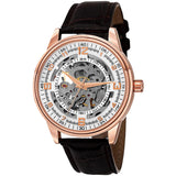 Akribos XXIV Men's 'Saturnos' Rose-gold Skeleton Automatic Watch AK410RG