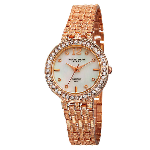Akribos XXIV Rose Gold-tone Alloy Ladies Watch AK757RG