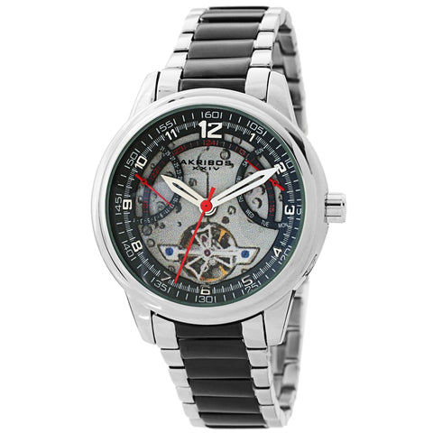 Akribos XXIV AKS191101TTB Men's Skeleton Automatic Bracelet Watch