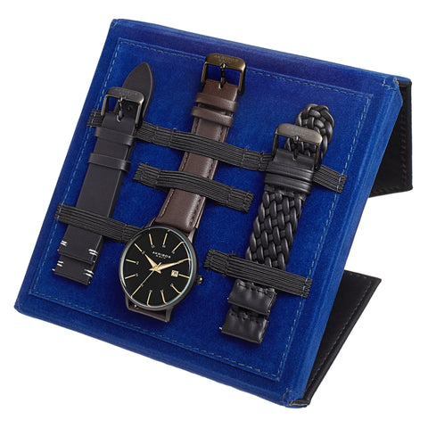Akribos XXIV AKS191104BK-S Men's Quartz Interchangebale Strap Watch