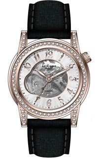 Akribos XXIV AKS191122RGBK Women's Skeleton Automatic Strap Watch