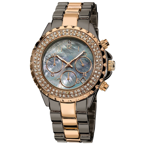 August Steiner AS8031TTR Crystal Chronograph Two-tone Bracelet Watch