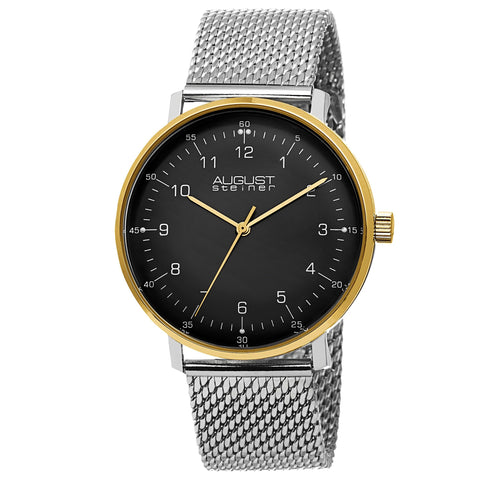 August Steiner Women's Quartz Matte Dial Bracelet Watch AS8091SSG