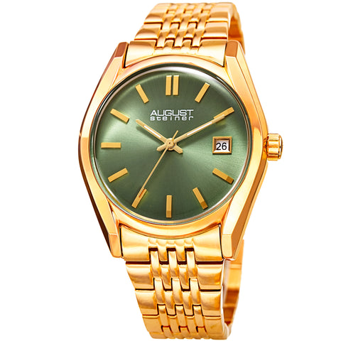 August Steiner Women's AS8235YGGN Quartz Watch with Stainless-Steel Strap