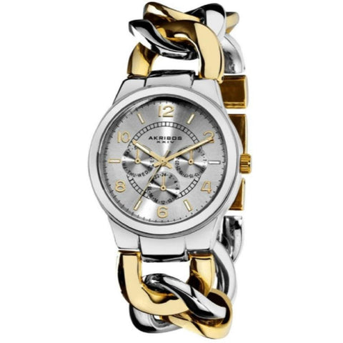 Akribos XXIV Women's Twist Chain Quartz Multifunction Watch AK531TTG