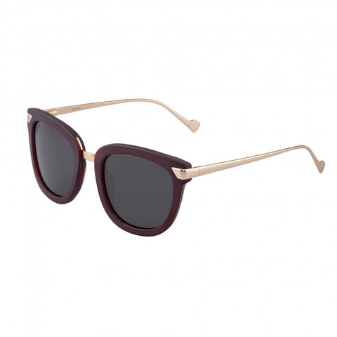 Bertha Jenna Polarized Sunglasses - Burgundy/Black