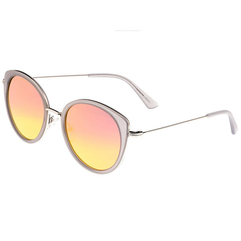 Bertha Sasha Polarized Sunglasses - Silver/Rose Gold