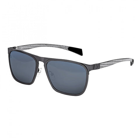 Breed Capricorn Titanium Polarized Sunglasses - Gunmetal/Blue-Green