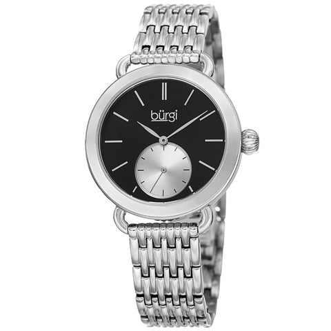 Burgi Women's Quartz Swarovski Crystal Stainless Steel Bracelet Watch