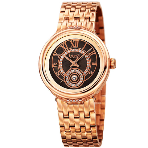 Burgi Women's Quartz  Mother of Pearl Dial Rose Gold-Tone Bracelet Watch BUR164RG