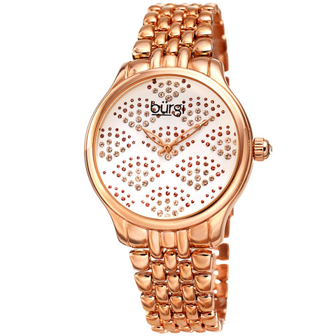 Burgi Women's BUR205 Swarovski Crystal Diamond Sparkle Bracelet Watch BUR205RG