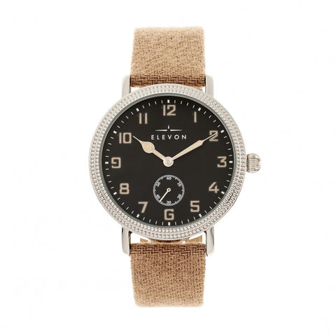 Elevon Northrop Wool-Overlaid Leather-Band Watch - Tan/Black