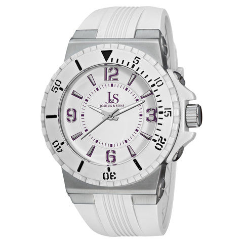 Joshua & Sons JS-38-WT Classic Stainless Steel And Sport Watches