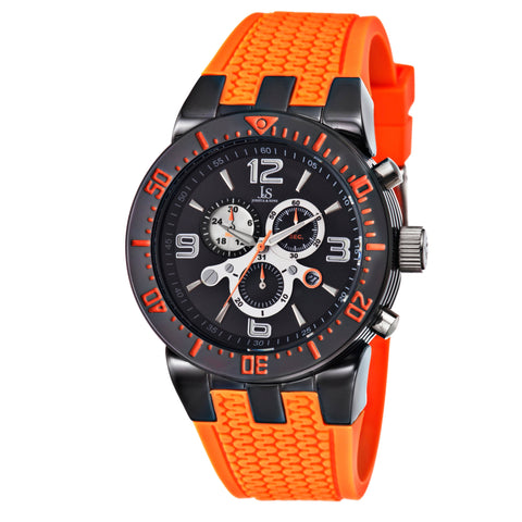 Joshua & Sons JS55 Men's Swiss Quartz Chronograph Date Silicone Strap Watch JS55OR