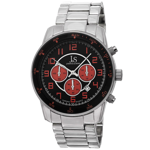 Joshua & Sons JS67OR Chronograph Date GMT Color Accented